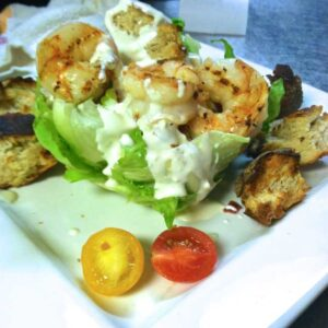 The Wedge Salad with Shrimp