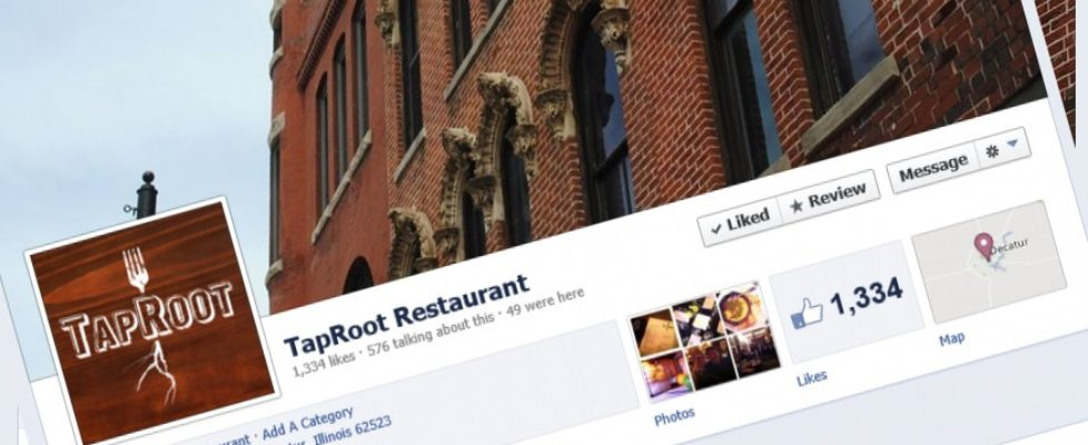 TapRoot Restaurant on Facebook